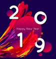 bright design 2019 template for banner or poster vector image