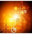 Bright hi-tech background vector image vector image