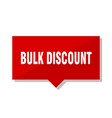 bulk discount red tag vector image vector image