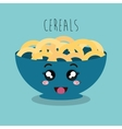 cartoon cereal snack design isolated vector image