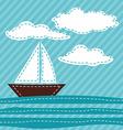 Cartoon Sail Boat Patchwork vector image