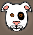 Cartoon white dog vector image vector image