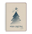 christmas tree-02 vector image vector image