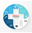 circle plus sign infographic Template for vector image vector image