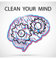 Clean your mind vector image vector image
