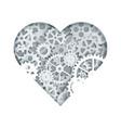 clock mechanism heart vector image