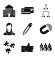 company manufacturer icons set simple style vector image vector image