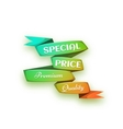 curved paper banner Ribbon vector image vector image