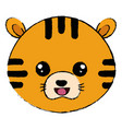 cute and tender tiger head character vector image vector image
