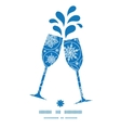 falling snowflakes toasting wine glasses vector image vector image