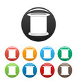 female condom icons set color vector image vector image