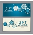 Gift Voucher Template for Christmas and New Year vector image vector image