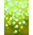 Green festive lights background vector image