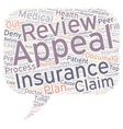 How to Appeal When Your Medical Insurance Declines vector image vector image