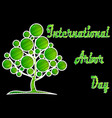 international arbor day vector image vector image