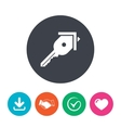Key from the house sign icon Unlock tool vector image vector image
