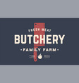 label logo butchery meat shop vector image vector image