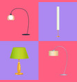lamps collection interior vector image vector image