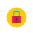 lock protection - concept colored icon in flat vector image