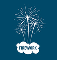 logo white cloud and firework vector image vector image