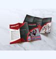 martial arts trifold brochure template design vector image vector image