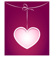 Paper cut card template with heart vector image vector image