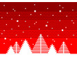 pixel fir trees christmas concept detailed vector image vector image