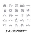 public transport transportation subway bus stop vector image