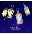 Ramadan Lanterns Background vector image vector image