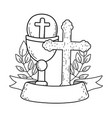 sacred chalice with cross vector image
