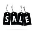 sale tag black vector image