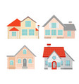 set colorful flat vector image vector image