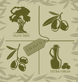 Set for olive labels vector image
