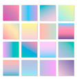 set of holographic modern gradients vector image