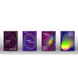 set of modern abstract musical backgrounds vector image vector image