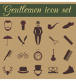 Set of vintage barber hairstyle and gentlemen icon vector image vector image