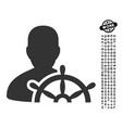 ship captain icon with people bonus vector image