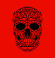 skull in floral style design element for poster vector image vector image
