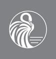 swan logo sign emblem-12 vector image vector image