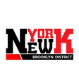 T shirt typography graphic New York Brooklyn vector image vector image