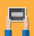 Tablet Download Small vector image