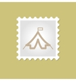 Tent stamp vector image