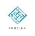 textile original logo design creative geometrical vector image vector image