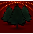 Three fir tree and their shadows for advertising vector image vector image