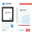 tick business logo tab app diary pvc employee vector image