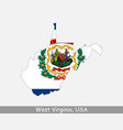 west virginia usa map flag vector image vector image