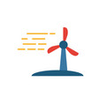 wind energy icon simple flat element from power vector image vector image