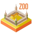 Zoo Leopard isometric icon vector image vector image