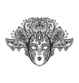 abstract beautiful mask lace vector image