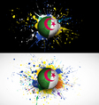 Algeria flag with soccer ball dash on colorful vector image vector image